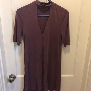 Plum Express cut-out choker dress - WORN ONCE